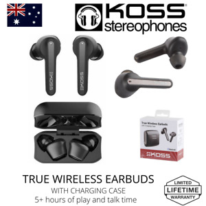 Koss TWS150I True Wireless In Ear Buds Microphone Chrging Case Bluetooth 5.0