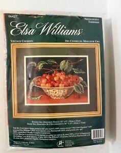 JCA Elsa Williams Vintage Cherries Needlepoint Kit 06427 NEW Sealed