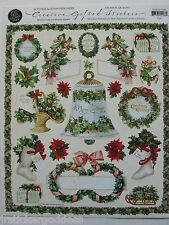 Gifted Line Vintage Christmas Stickers Bell Wreath Holly Basket John Grossman &