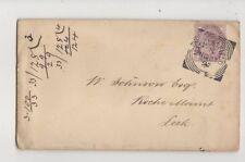 Macclesfield [N] Squared Circle Postmark Cheshire 27 Nov 1897 Cover 466b