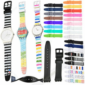 For S watch 16mm 17mm 19mm 20mm Rubber Silicone Non-slip Wrist Watch Band Strap