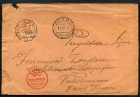 ITALY - LIBIA to VALDAGNO 1917 censored cover ZUARA cancel