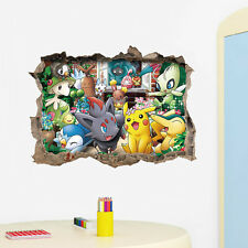 Games Pokemon Go 3D Art Vinyl Wall Decals Sticker Kids Nursery Room Home Decor