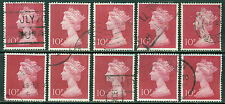GREAT BRITAIN SG-829, SCOTT # MH-165 MACHIN USED, 10 STAMPS, GREAT PRICE!
