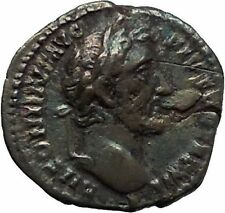 Antoninus Pius Father of Marcus Aurelius 148AD  Ancient Silver Roman Coin i45947