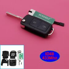 2 Button 1J0 959 753 AG Remote Key ID48 CHIP for Skoda VOLKSWAGEN Seat 433MHz
