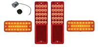 United Pacific LED Tail Light and Front Marker Light Set 1967-1968 Chevy Truck