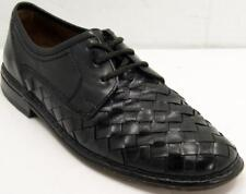 SIOUX Woven Black Leather Oxford Men's Dress Shoes Sz 9.5 GERMANY Handmade