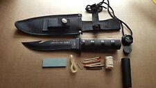 "10.5"" BONE EDGE Tactical Hunting Camping COMBAT Survival Knife Bowie w/ Sheath"