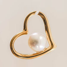 PEARL PENDANT 7mm CULTURED WHITE FRESHWATER PEARL GENUINE 9K 375 9CT GOLD NEW