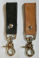 HANDCRAFTED LEATHER KEYCHAIN BELT LOOP KEY RING HOLDER FOB SWIVEL LOBSTER CLASP