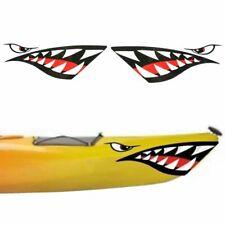 2 Pcs/Set Kayak Sticker Waterproof Shark Teeth Mouth Stickers Decal Canoe Boat