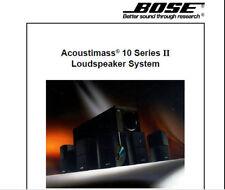 Bose Acoustimass 10 Série II Home Cinéma Système de haut-parleur Service Manual Livre FR