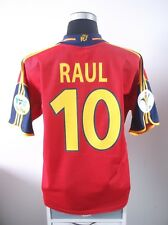 RAUL #10 Spain Home Football Shirt Jersey EURO 2000 (L)