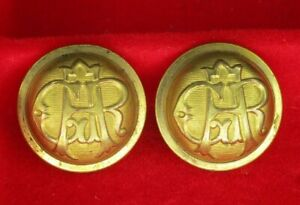 Two GAR Grand Army of the Republic Coat Buttons 7/8 and 3 Musician Buttons