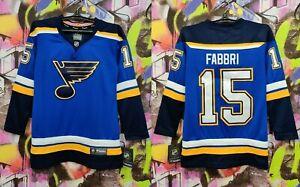 St Louis Blues Robby Fabbri #15 NHL Hockey Jersey Longsleeve Fanatics Womens XS