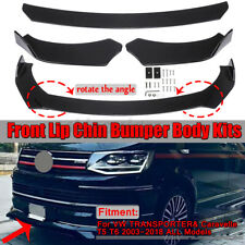 Front Bumper Lip Spoiler Splitter Glossy For Volkswagen VW Golf MK5 MK6 MK7 GTI