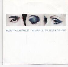 Human League-All I Ever Wanted promo cd single