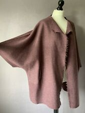 "OSKA Beautiful Boiled Wool Oversized Jacket in Mauve Size 2 but OSFA 60"" Chest"
