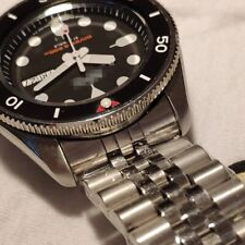 Brush Polish solid Stainless Steel SKX 007 jubilee Watch band curved End 22mm