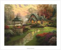 Thomas Kinkade Make a Wish Cottage 20 x 24 S/N Limited Edition Paper