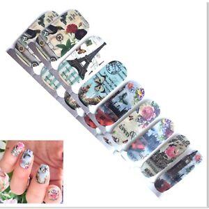 Jaysea Nails Thin Polish Strips Color Paris Blue Pink Rose Street Nail Art -B4G1