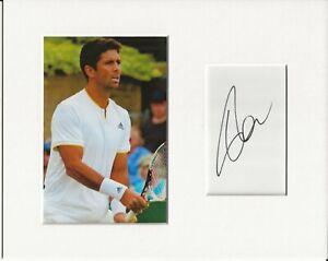 Fernando Verdasco tennis signed genuine authentic autograph signature AFTAL COA