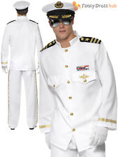 Mens Sailor Costume Adults Navy Officer and Gentleman Fancy Dress Captain 80s
