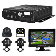 "1080P 4CH Truck Van Bus DVR Video Recorder + 7"" Monitor + 4x Night Vision Camera"
