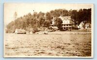 Adirondacks, NY - EARLY 1900s VIEW OF SEVENTH LAKE HOUSE HOTEL - RPPC T3
