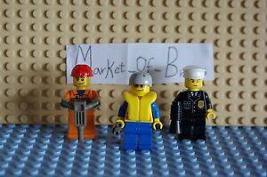Lego City X3 Workman,Life guard & Ploice, Collection, starter Holiday Fun! 7/13