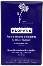 KLORANE SMOOTHING RELAXING EYE PATCHES SOOTHING CORNFLOWER CHAMOMILE 14 PATCHES