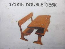 1/12 scale Dolls House  Furniture   School desk, double     Mc123  Ready made