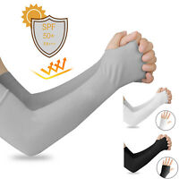 Long Cooling Skin Arm Sleeves Cover UV Sun Protection Outdoor Sports Men Women