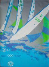MUNICH 1972 OLYMPICS SAILING A0 poster 33x47 OTL AICHER art Vintage