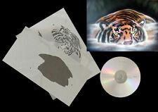 Step by Step Stencil AEROGRAFO/Stencil 0599 TIGRE In Acqua & CD CD