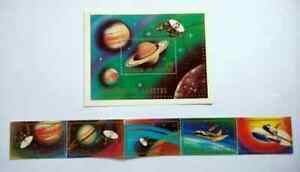LESOTHO SPACE VOYAGER EXPEDITION TO SATURN SOUVENIR SHEET BM73