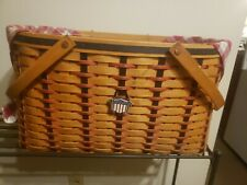 2002 Longaberger Large All American Block Party Basket Tie-on combo