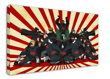 WK-C015 (525) Naruto Akatsuki Sasuke Canvas Wood Framed 18x12inch Poster
