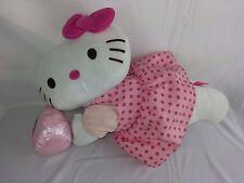 """Hello Kitty 2012 Pink Polka Dot Dress plush Toy Sanrio 20"""""""