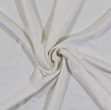 White Ottoman Stretch Knit Fabric By the Yard D349.04