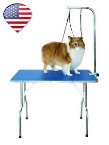 32'' Medium pet Grooming Table with Double leashes and clamp for Dogs