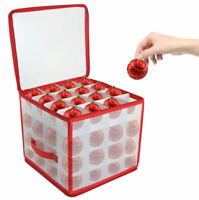 64 Bauble Storage Box For Set Of 64 Baubles Christmas Tree Decoration Organiser