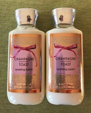 Bath & Body Works Champagne Toast Lotion 8 Oz Lot Of 2 Full Size Bottles, New!