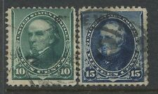 USA 1890 10 cent and 15 cents used