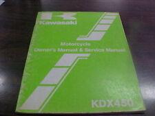 Vintage Kawasaki KDX 450 A-1 Owner's Manual & Service Manual