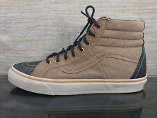 VANS CALIFORNIA Men's Sz 12 Brown Black Suede Leather Lace-up Skateboard Shoes