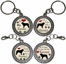 Kuvasz Dog Key Ring Key Chain Purse Charm Zipper Pull #2