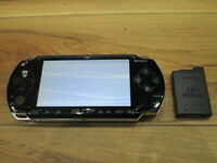 Sony PSP 1000 Console Piano Black w/battery pack Japan o65
