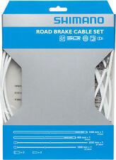 SHIMANO ROAD PTFE ROAD BIKE BICYCLE WHITE BRAKE CABLE KIT W/ HOUSING